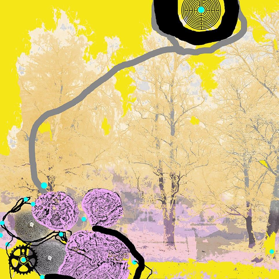 """""""Golden forest"""" D.G.A. trykket på Magiclée Verona HD 240gsm papir 31 x 31 cm Price 1000,-"""