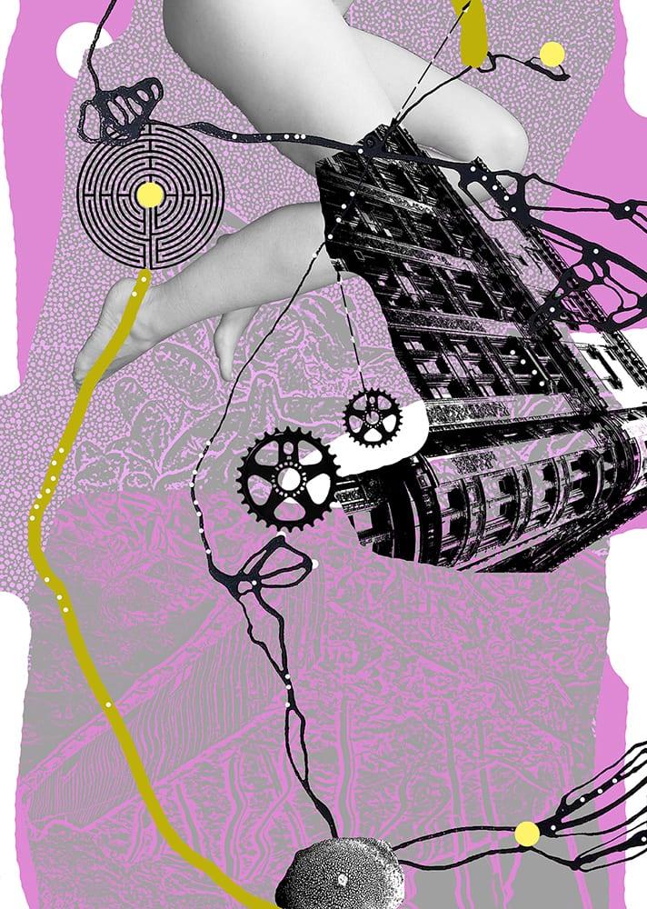 """Indre og ytre sosiale konstruksjoner"" D.G.A. trykket på Magiclée Verona HD 240gsm papir Edition 70, 56 x 40 cm Price 2800,-"